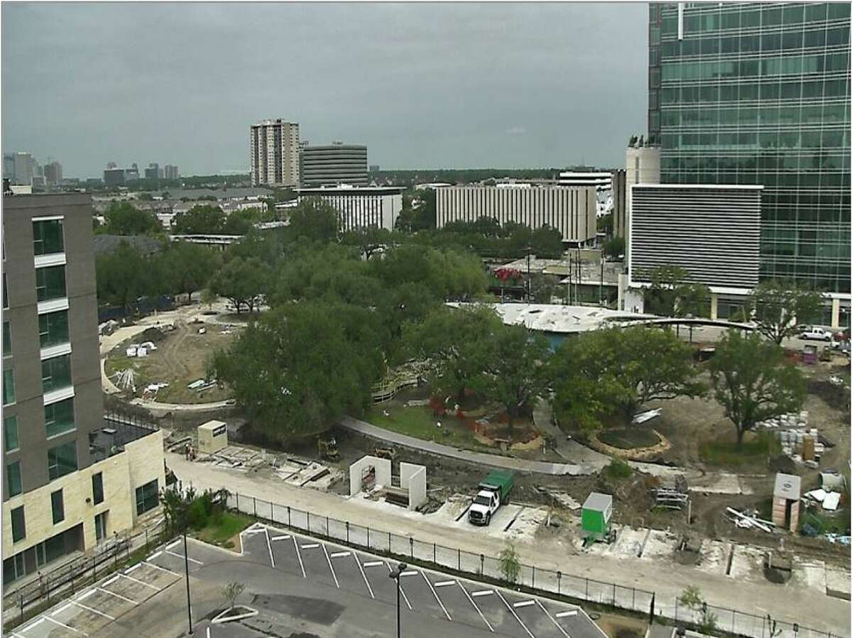 A screenshot of the live webcam at the Levy Park development. It's set to debut softly in mid-November, 2016./