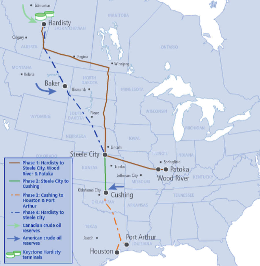 The proposed TransCanada Keystone XL pipeline
