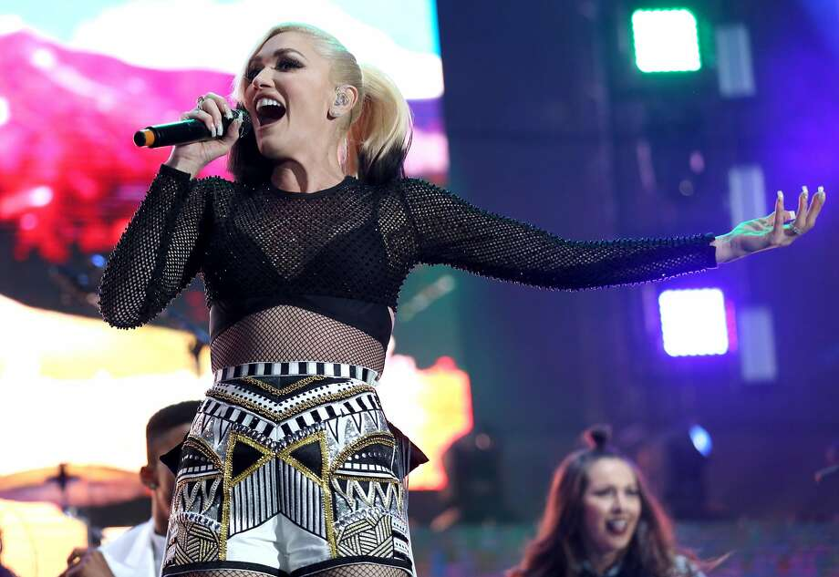 Gwen Stefani at a May show in Carson (Los Angeles County). Photo: Rich Fury, Associated Press