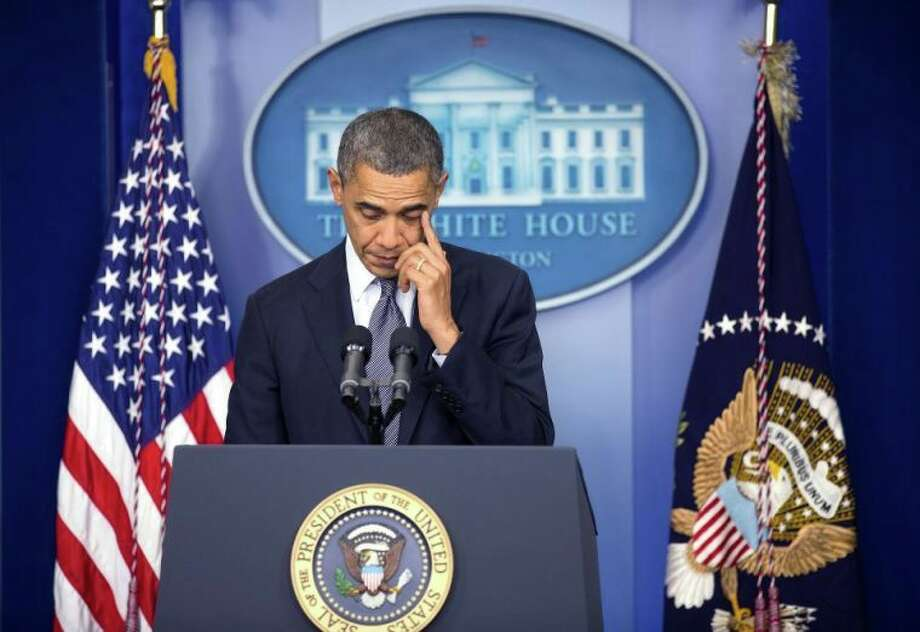 Obama responds to the Sandy Hook shooting.