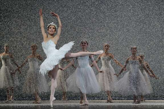 The Queen of the Snow (Frances Chung) dances in the San Francisco Ballet's annual production of the Nutcracker at the War Memorial Opera House in San Francisco, Calif. on Wednesday, Dec. 11, 2013.
