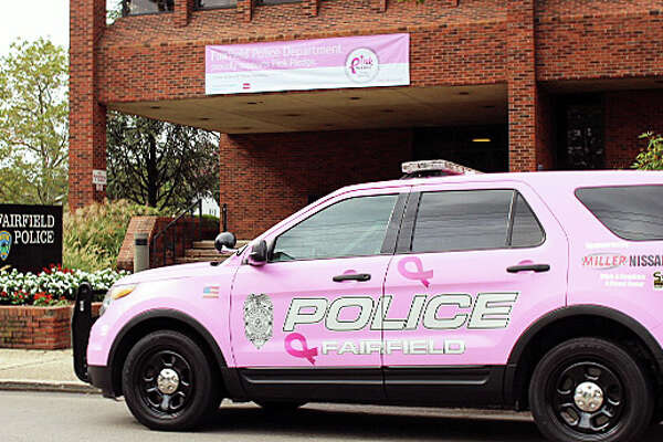 Fairfield's pink police cruiser is ready to hit the streets once again for Breast Cancer Awareness Month. Fairfield, CT. 9/27/16