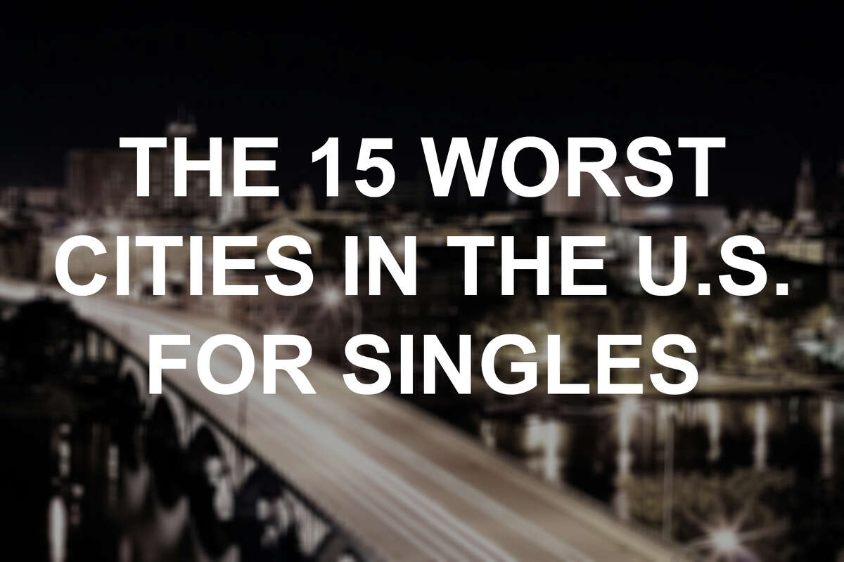 The 15 worst cities in America for singles, according to a ValuePenguin study.