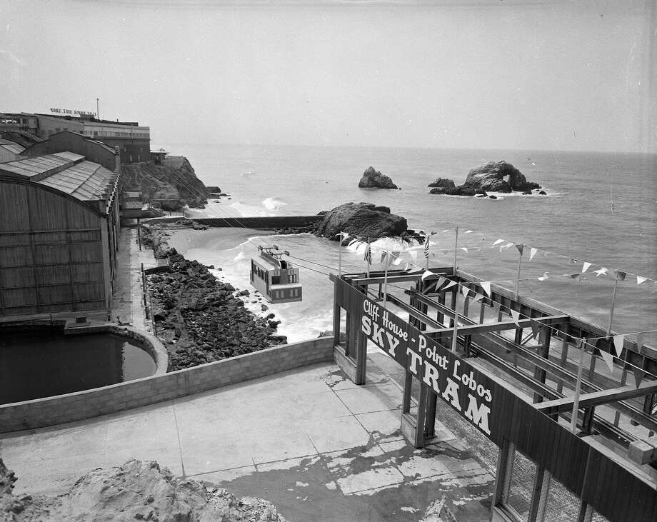 The Sky Tram offers spectacular views of Seal Rock on May 2, 1955. Photo: Joe Rosenthal, The Chronicle
