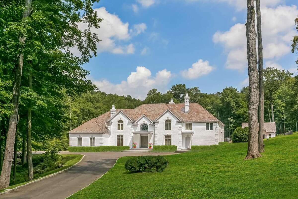 This massive estate at 45 Farwell Lane in Greenwich is on the market for $5,499,000. While the lister claims the home is former owned by a celebrity, regardless, the newest occupants will feel like A-Listers in this seven-bedroom, nine-bathroom home. The home features multiple pools, a tennis court, game room, home theater, and six acres of land.
