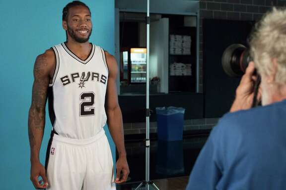 Kawhi Leonard is photographed during Spurs media day on Sept. 26, 2016, at the practice facility in San Antonio.