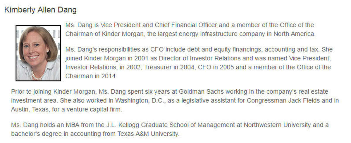 Kimberly Allen Dang, CFO, Kinder Morgan Inc.