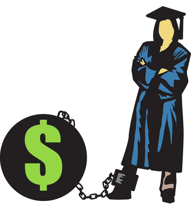 300 dpi Chris Ware illustration of college graduate standing next to ball-and-chain labeled with a U.S. dollar sign; can be used with stories about student debt. Lexington Herald-Leader 2011krtnational national; krt; krtcampus campus; mctillustration; 05007000; college; EDU; krteducation education; university; 04000000; 04006018; FIN; krtbusiness business; krtfinancialservice financial services; krtnamer north america; krtpersonalfinance personal finance; krtusbusiness; u.s. us united states; krtdiversity diversity; youth; USA; ball and chain; college student; cost; debt; dollar sign; graduate; lx contributed ware; student loan; 2011; krt2011 Photo: Ware / © MCT 2011