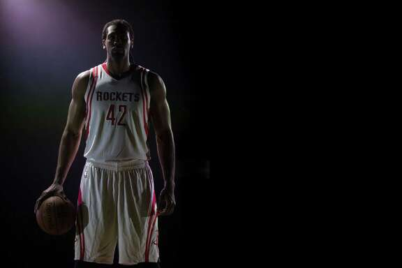 Houston Rockets forward-center Nene poses for a video shoot during Rockets Media Day at Toyota Center, Friday, Sept. 23, 2016, in Houston. ( Marie D. De Jesus / Houston Chronicle )