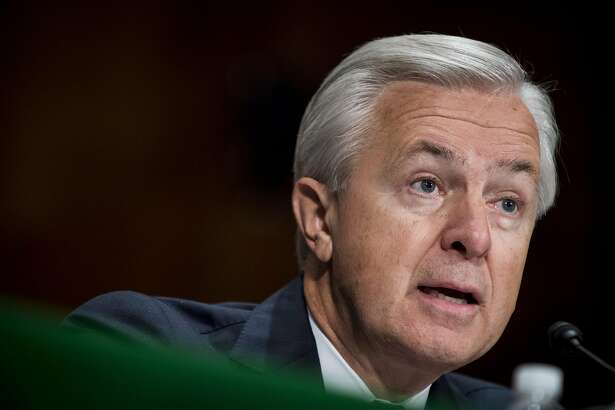 Wells Fargo CEO John Stumpf, seen testifying before the Senate Committee on Banking, Housing, and Urban Affairs on Sept. 20, was given $161 million in bonuses and performance awards from 2011-2015 by his company. MUST CREDIT: Photo by Pete Marovich, Bloomberg