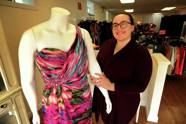 Maria Schwartz, owner of plus-sized consignment shop Curvaceouus Closet at 141 Kings Highway East in Fairfield, Conn. on Tuesday, September 27, 2016.
