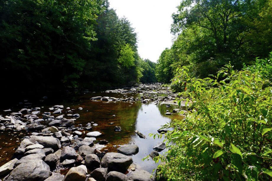 This view of the Natchaug River illustratrate the current trout-stocking problems. Photo: Contributed / Contributed Photo / Connecticut Post Contributed
