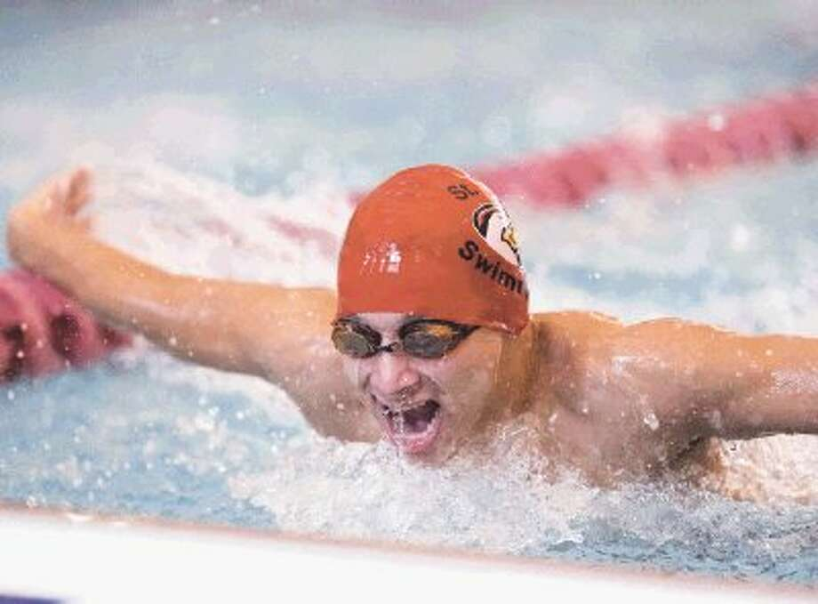 The St. John's boys swim team will be among the many Private and Parochial schools that will be in the water Saturday for the HAPPI swim meet at Spring Woods High School. The meet will feature just about all the private schools from around the city in one of their final meets before the upcoming conference and district meets next month. / ©2012 Gulf Coast Shots. All rights reserved