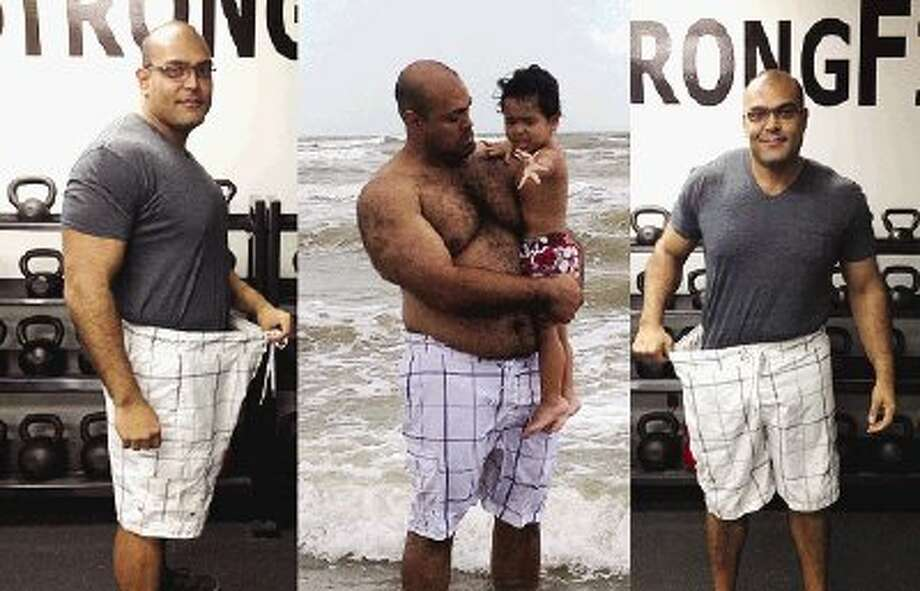 HLA ambassador Francisco Marentez shows off the weight he is losing as part of a commitment to healthy living.