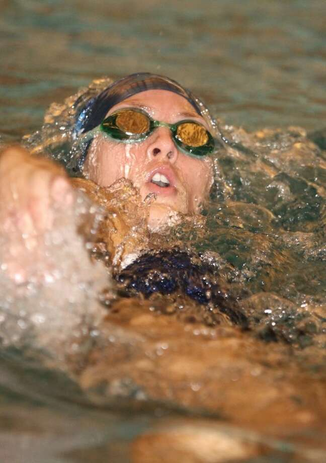 Clements' Colleen Lord won the 100 backstroke and the 200 freestyle at the disrict 23-5A championships at Don Cook Natatorium. (Alan Warren/HCN) Photo: Alan Warren