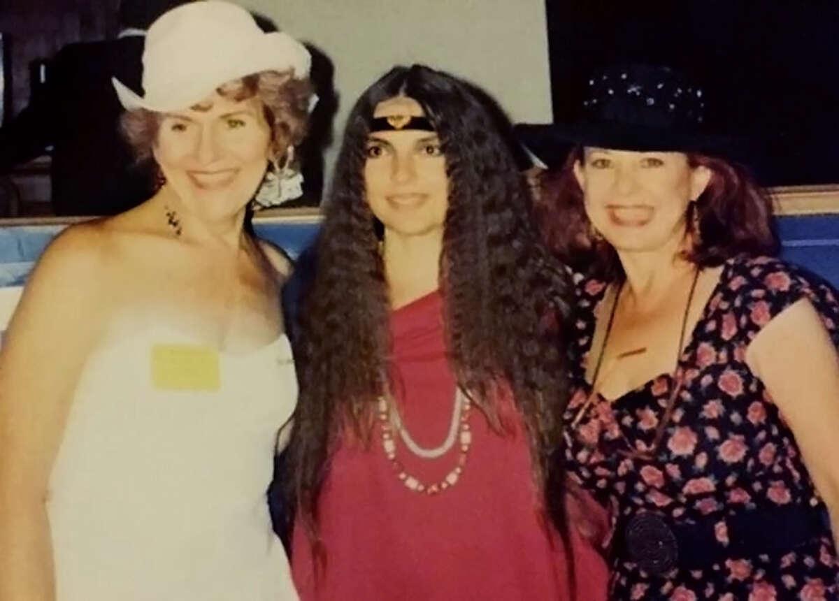 Left to right, transgender pioneer Linda Phillips, friend Gordene MacKenzie, and Phillip's wife, Cynthia Phillips.