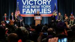 Democratic presidential candidate Hillary Clinton speaks during a event April 4 in New York. She has made family issues a major plank in her campaign.