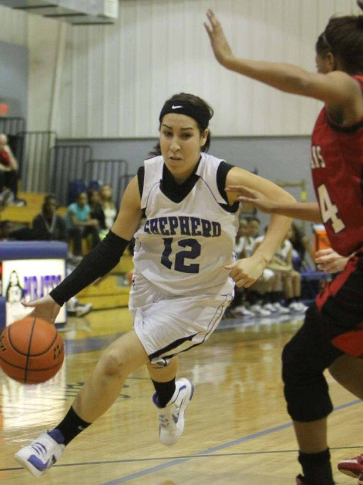 Casey Gamez (12) of Shepherd drives the ball. The seniors was named to the all-district first team.