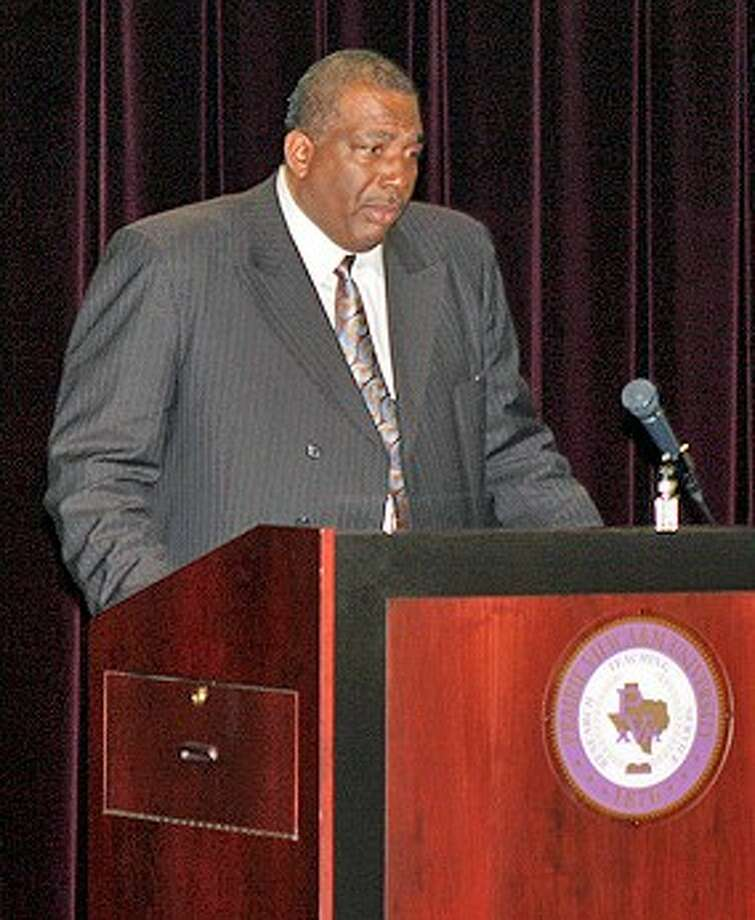 State Sen. Royce West offers his thoughts on the remarks of his friends and colleagues during a recent forum at Prairie View A&M University.