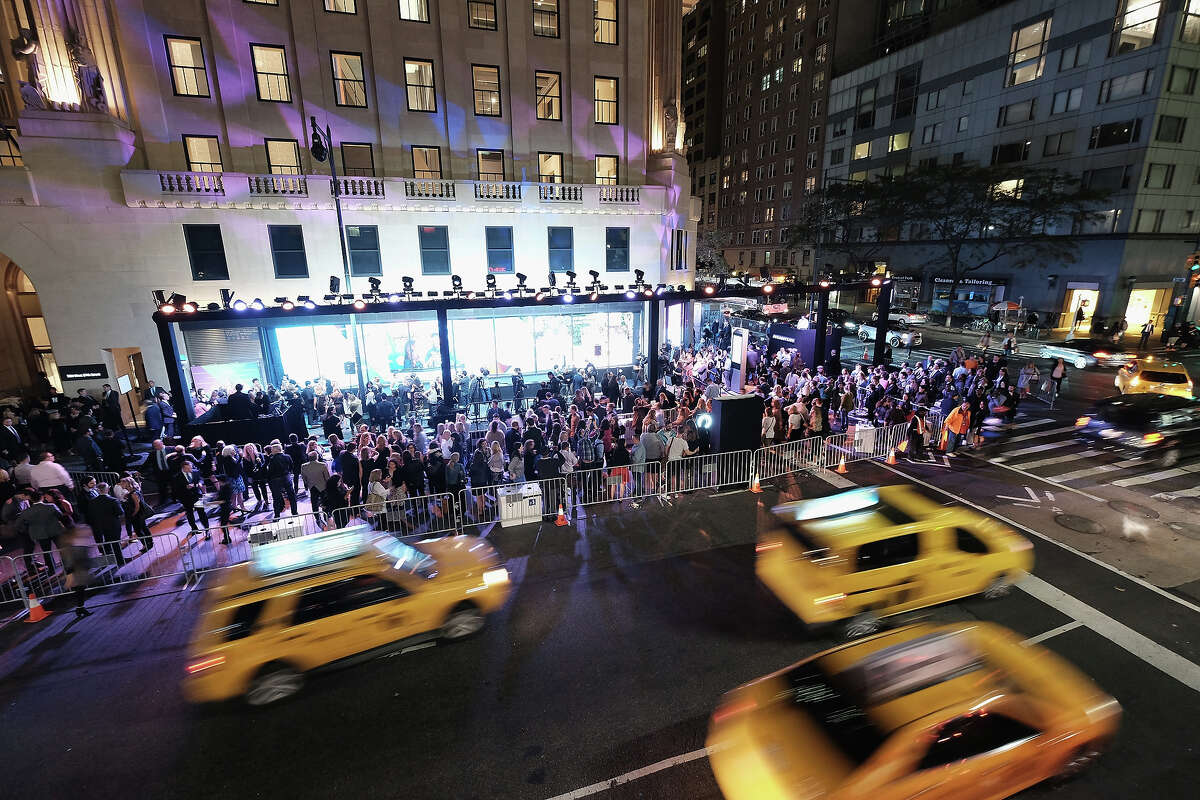 A view of atmosphere at the Hearst launch of HearstLive, a multimedia news installation, at 57th Street & 8th Avenue on September 27, 2016 in New York City.