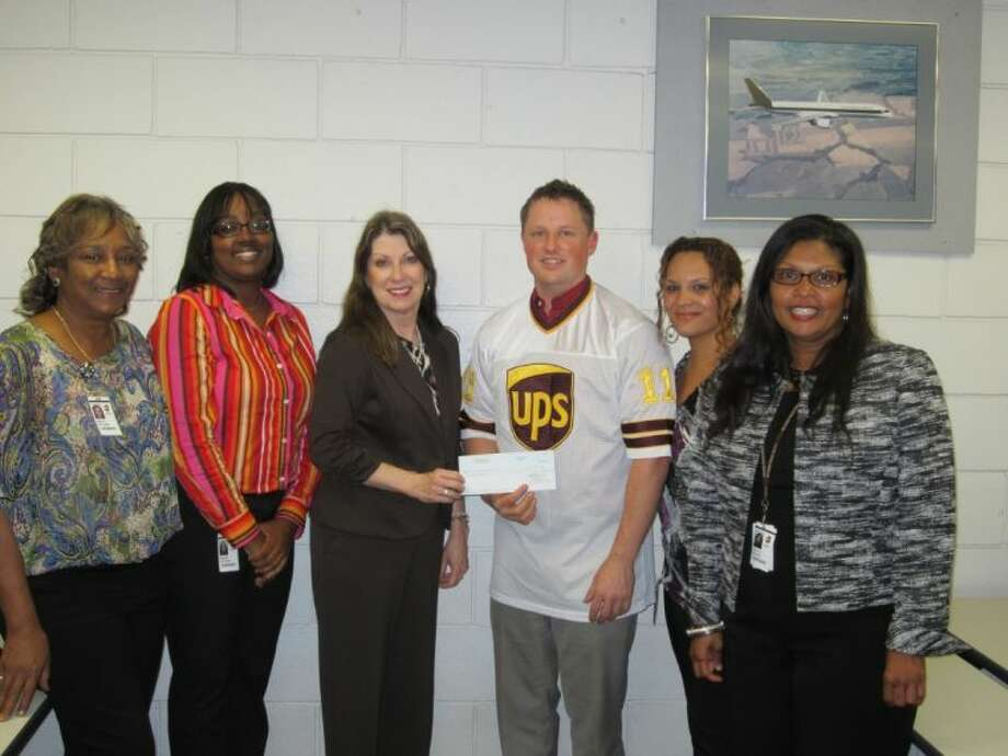 Girl Scouts of San Jacinto Council (GSSJC) was awarded a 10,000 grant by The UPS Foundation, the charitable arm of UPS. The grant will help GSSJC reach more girls who live in underserved areas of Houston with programming that addresses obstacles faced by girls as they strive to achieve academically, emotionally and socially. (Pictured left to right) Renita Williams, UPS Human Resource administrative assistant; Keisha Lee Cavil, UPS District Human Resource operations manager; Diane Pavey, GSSJC development director - major gifts; Casey Jordan, UPS area Human Resource supervisor; Paulina Robins, UPS Human Resource supervisor; and Gladys Walker, UPS Employee Services supervisor.