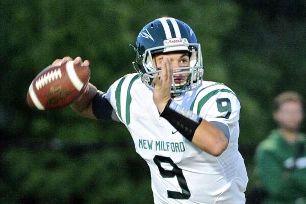 New Milford quarter back Tyler Sullivan is out of action this week due to a knee injury.