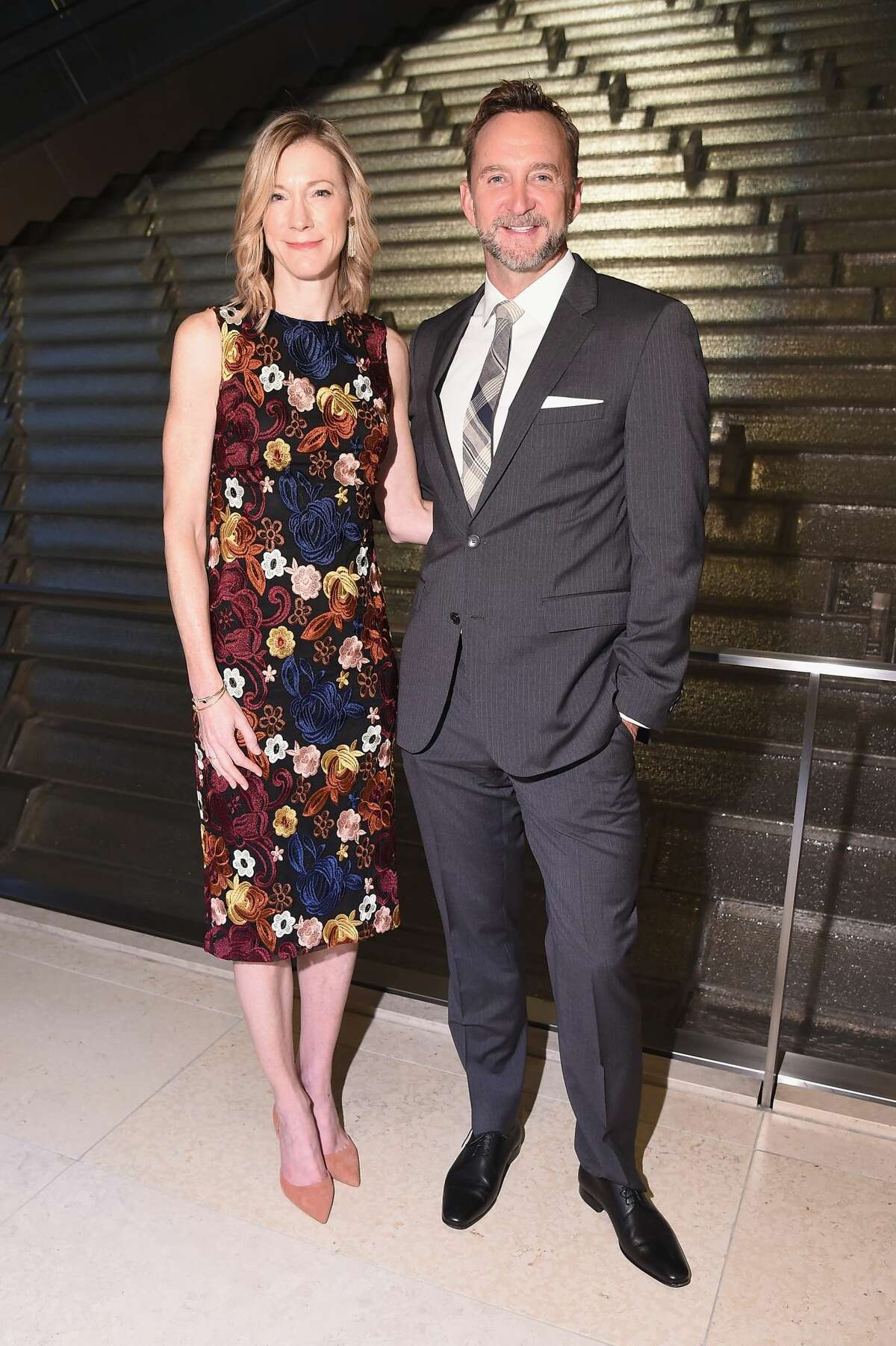 NEW YORK, NY - SEPTEMBER 27: Editor in Chief of Woman's Day Susan Spencer and TV Personality Clinton Kelly attend the Hearst launch of HearstLive, a multimedia news installation, at 57th Street & 8th Avenue on September 27, 2016 in New York City. (Photo by Michael Loccisano/Getty Images for Hearst)