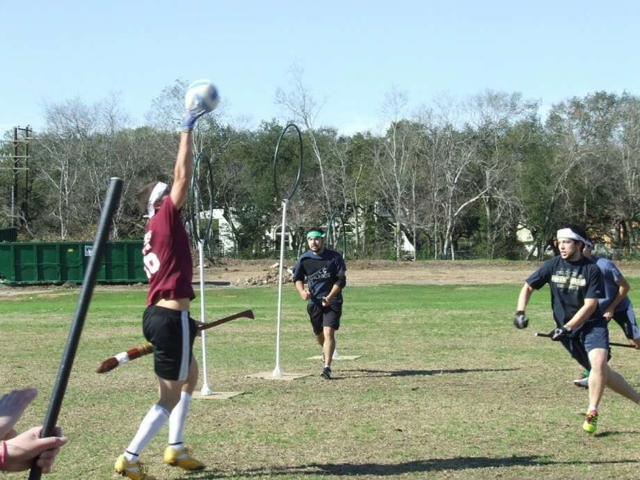 Rice's Quidditch team rallies against A&M at a tournament at Rice Saturday