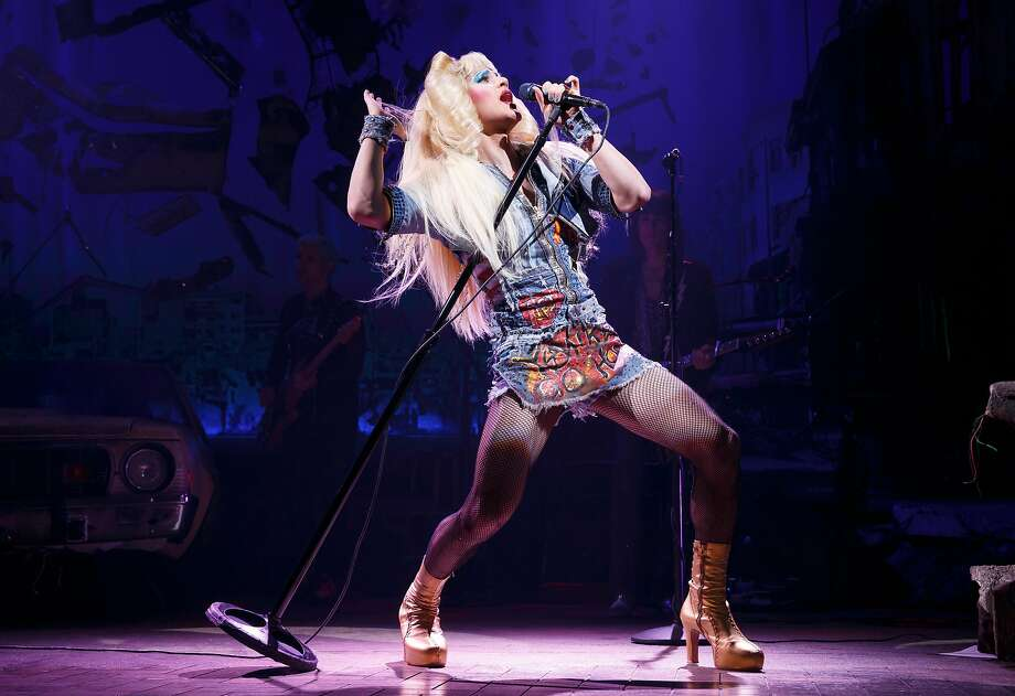 """Darren Criss rocks out in SHN's """"Hedwig and the Angry Inch."""" Photo: Joan Marcus, SHN"""