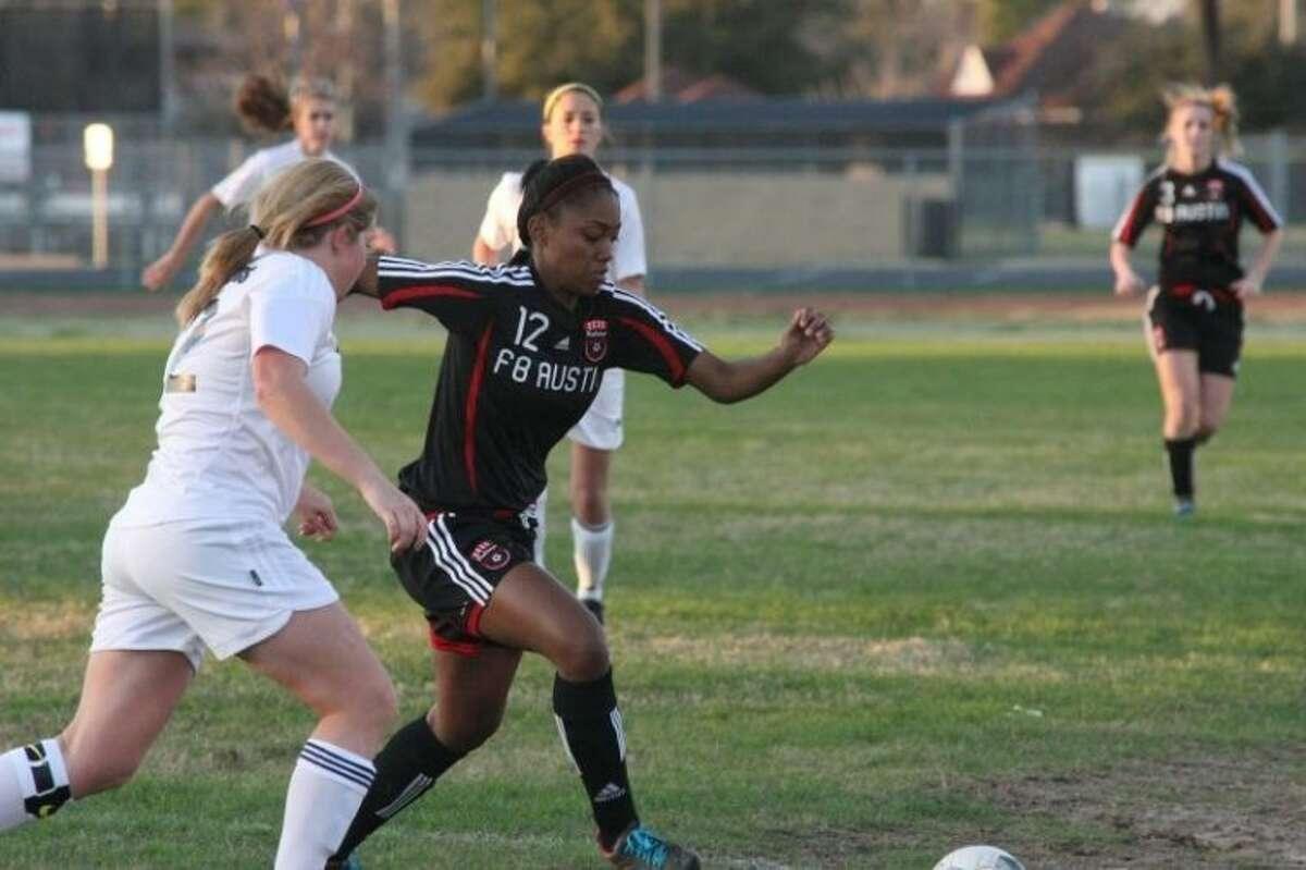 Eileen Saa (12) has scored six goals for the Austin girls soccer team this season.