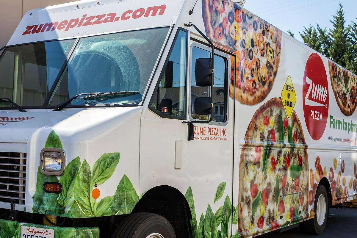The delivery truck at Zume Pizza on Tuesday, Sept. 27, 2016 in Mountain View, Calif.