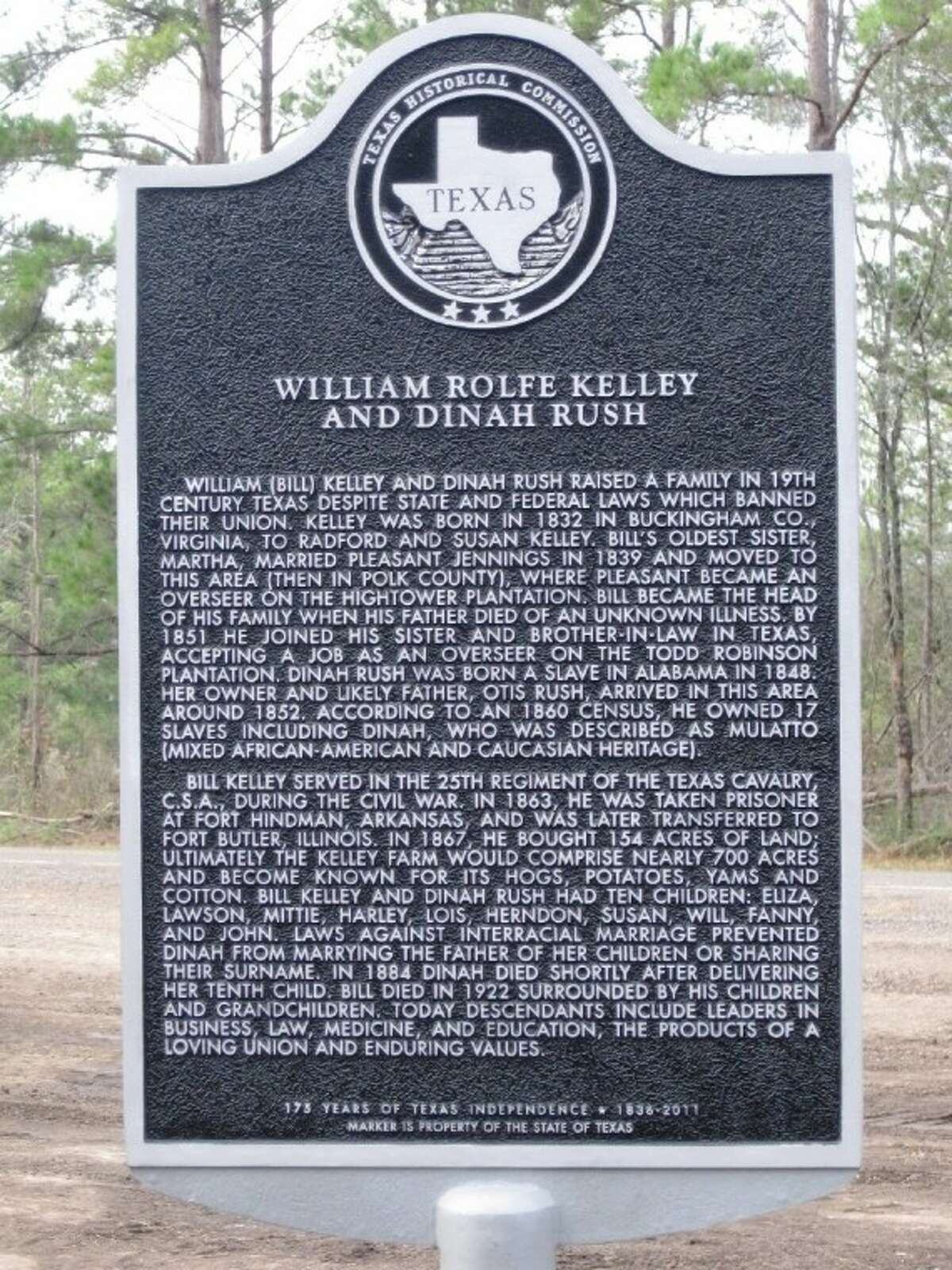This historical cemetery marker commemorating the lives of William