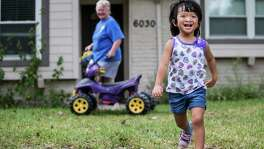 Olivia Reichard, 4, has intense speech problems related to a bilateral cleft palate, but her mother said HISD initially would not agree to place the girl in a special education preschool program.
