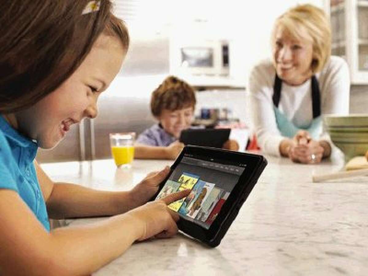 E-readers and tablets offer games and books for the whole family.