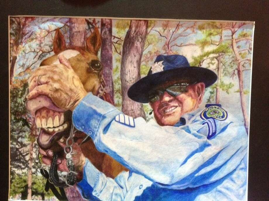 Kingwood Park High School eleventh grader Jared Como, who is taught by Melanie Hunt, won the Special Merit award in the Humble ISD Rodeo Art Show.