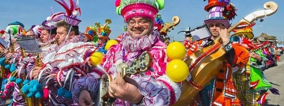 Mardi Gras! Galveston starts Friday, Feb. 10, on the island and one of the most popular participants in the Island's annual celebration, the Philadelphia Mummers, will return in full regalia.