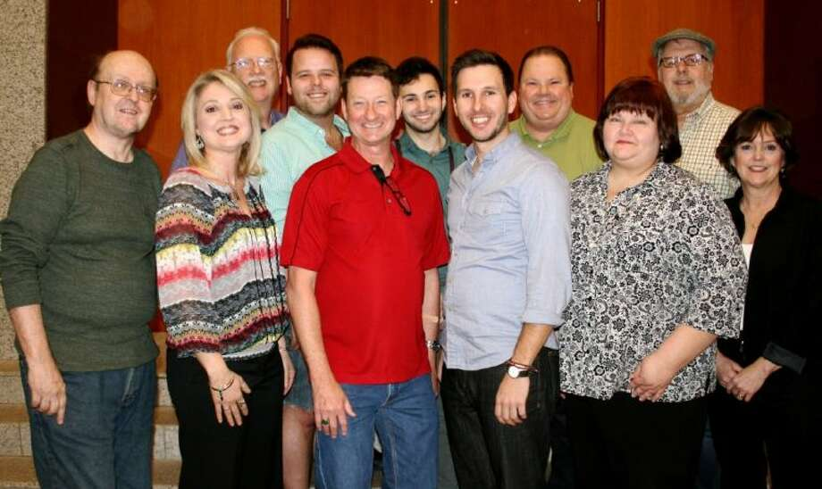 The cast and director of 'The Boys Next Door.' Pictured, left to right, are Larry Arnhold, Cheryl Westmoreland, Bob Stahl, Ryan Baker, Fred White, Alec Trevino, Chris Piper, Rusty Groos, Cathy Carroll, Don Piper and Debbie Reno. Photo: SUBMITTED PHOTO