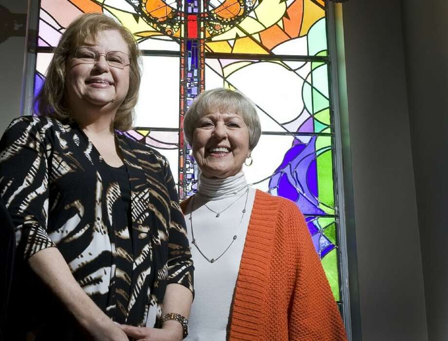 Sally Ison, left, and Betty Clipman recently founded The Woodlands Show Chorus, a group of passionate women who will sing and perform at various venues around the community, as well as compete. They are holding auditions at The Woodlands Christian Church on Monday nights. Photo: Staff Photo By Eric S. Swist