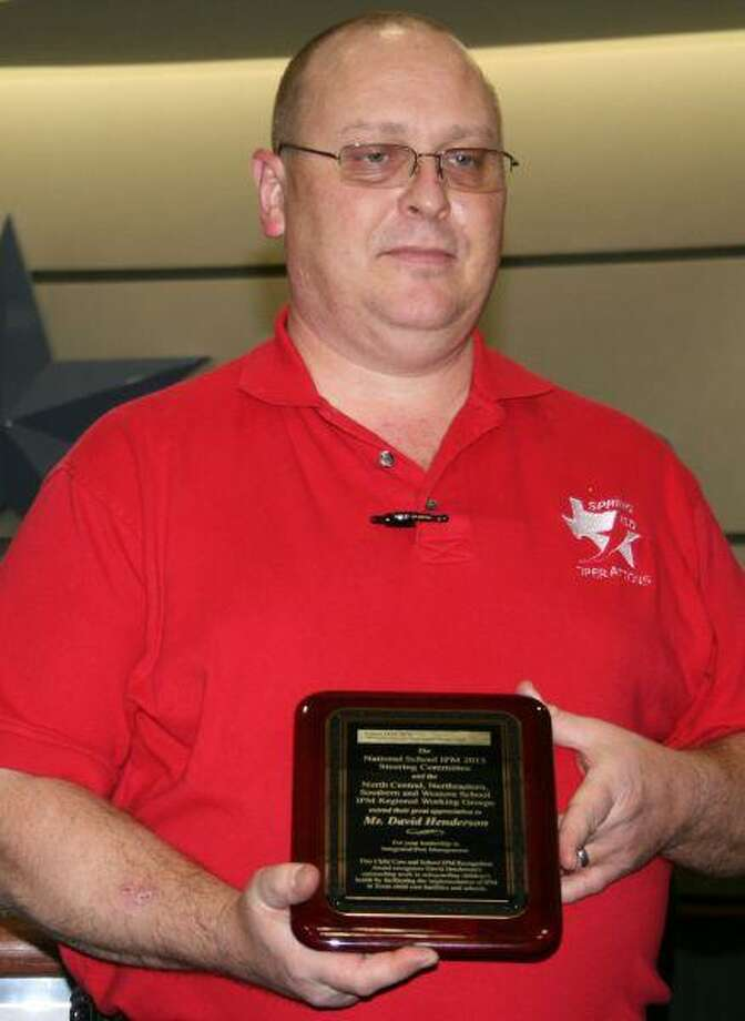 David Henderson won a national award for integrated pest management.