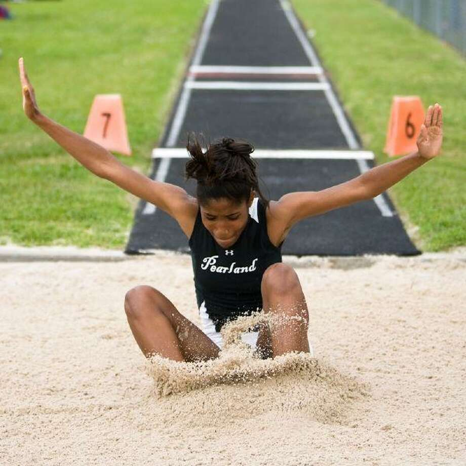 Pearland's Whitney Rose will try to advance to state in the long jump this week in addition to earning a berth at Austin in her specialty, the triple jump.