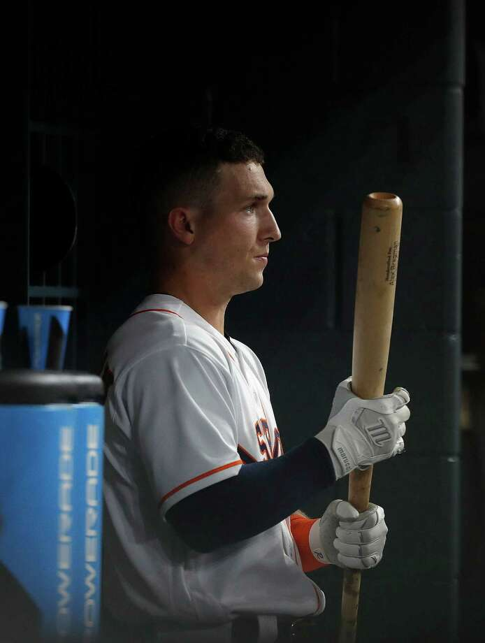 Alex Bregman finishes his rookie season with a .264 batting average, eight home runs, 13 doubles, three triples and 34 RBI in 201 at-bats spanning 49 games. The 22-year-old is with the Astros in Anaheim even though he won't take the field. Photo: Karen Warren, Houston Chronicle / 2016 Houston Chronicle