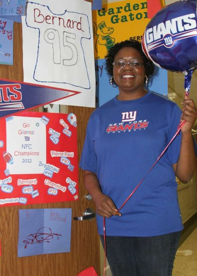 Gardens Elementary teacher Tahnisha Bernard outside her classroom this week. Photo: For The Citizen