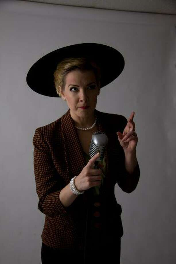"Rebekah Dahl stars as Eva Peron in the upcoming performance of ""Evita"" by Masquerade Theatre."