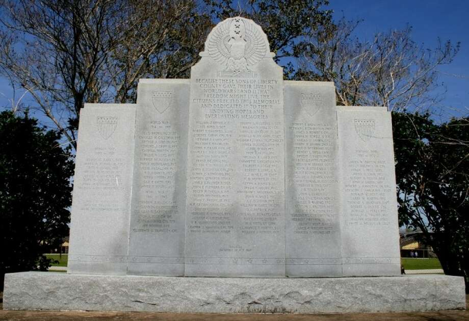 Veterans War Memorial Monument in Liberty Photo: STEPHEN THOMAS