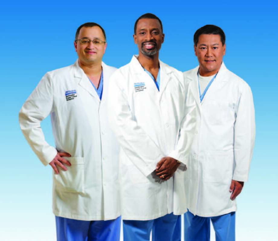 Panel of heart experts: Imran Mohiuddin, M.D., vascular surgeon; Toussaint Smith, M.D., diagnostic cardiologist and Sherman Tang, M.D., interventional cardiologist.