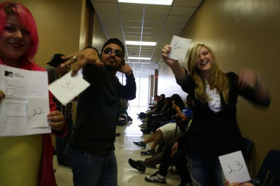 Dozens of starry-eyed hopefuls lined up Wednesday at the San Jacinto College Central Campus Student Union hallway where, in room 210, MTV scouts held an open casting audition for its show, MADE. Photo: Y.C. Orozco