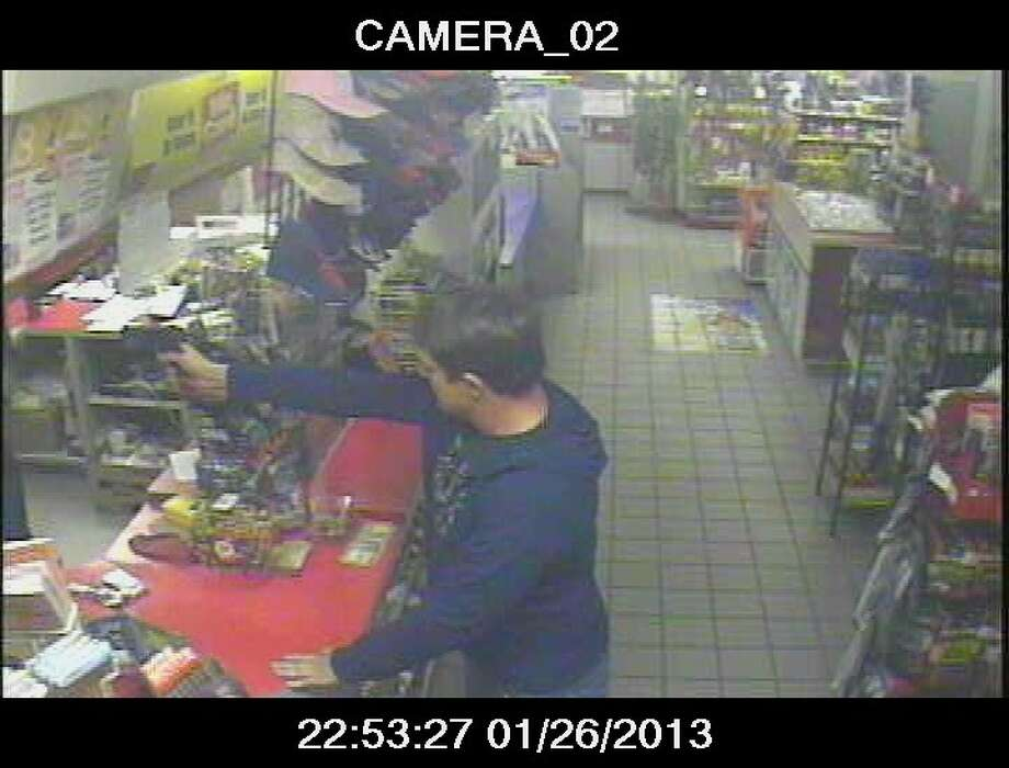 Surveillance captured a suspects wanted in the robbery of a gas station located on the 1800 block of Fry Road in Harris County.