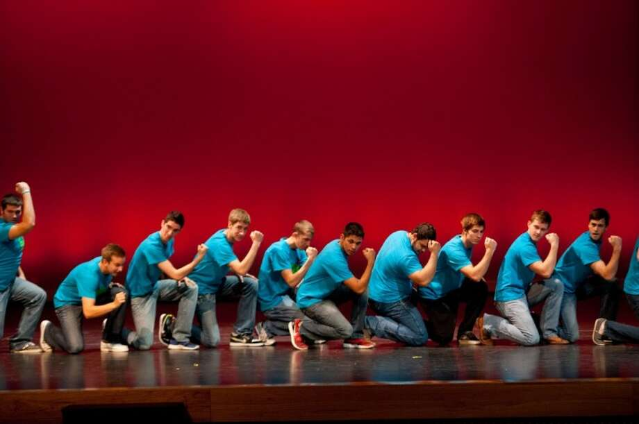 Twenty-three seniors from Langham Creek High School competed for the title of Mr. Lobo 2012. Photo: Angela Morales