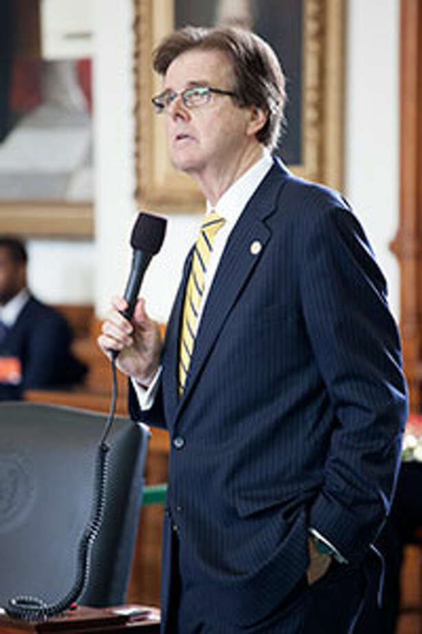 Houston Sen. Dan Patrick, chair of the Senate Education Committee, lays out the first bill passed by the Senate this session. / Texas Senate Media Services