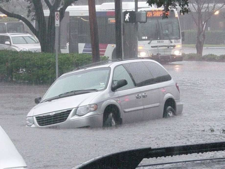 Richmond Avenue during heavy downpours that hit the Houston area on Jan. 9. Photo: UPPER KIRBY DISTRICT